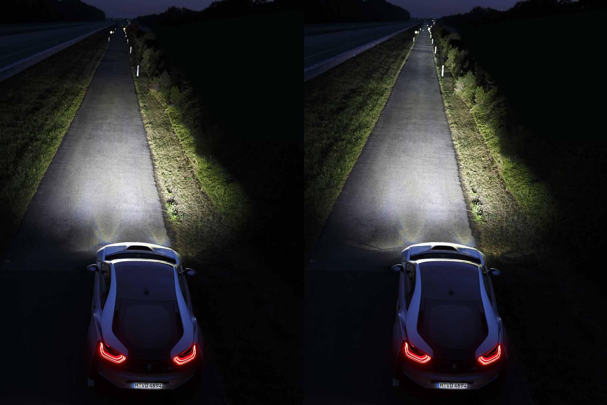 BMW i8 fari LED vs Laser