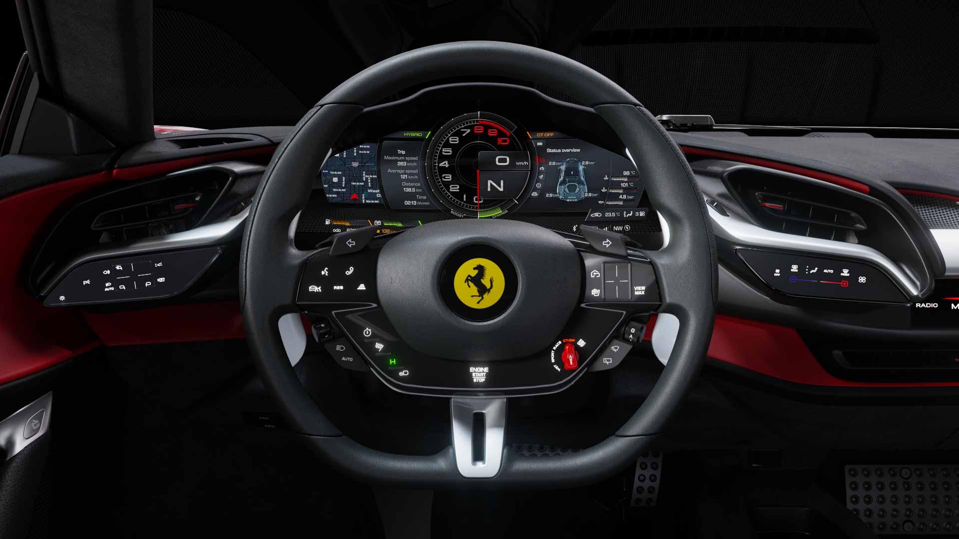 Comandi Ferrari SF90 Spider