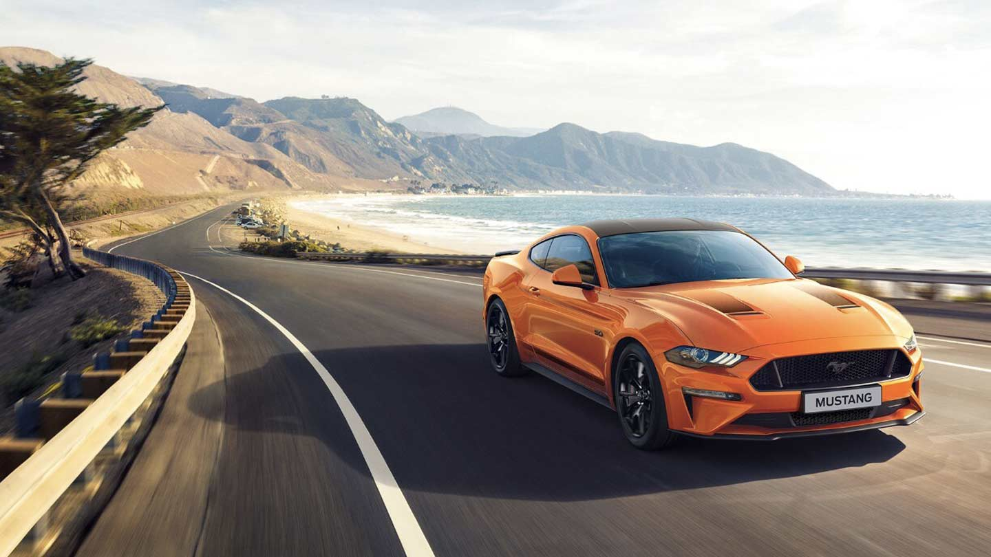 Ford Mustang On the Road