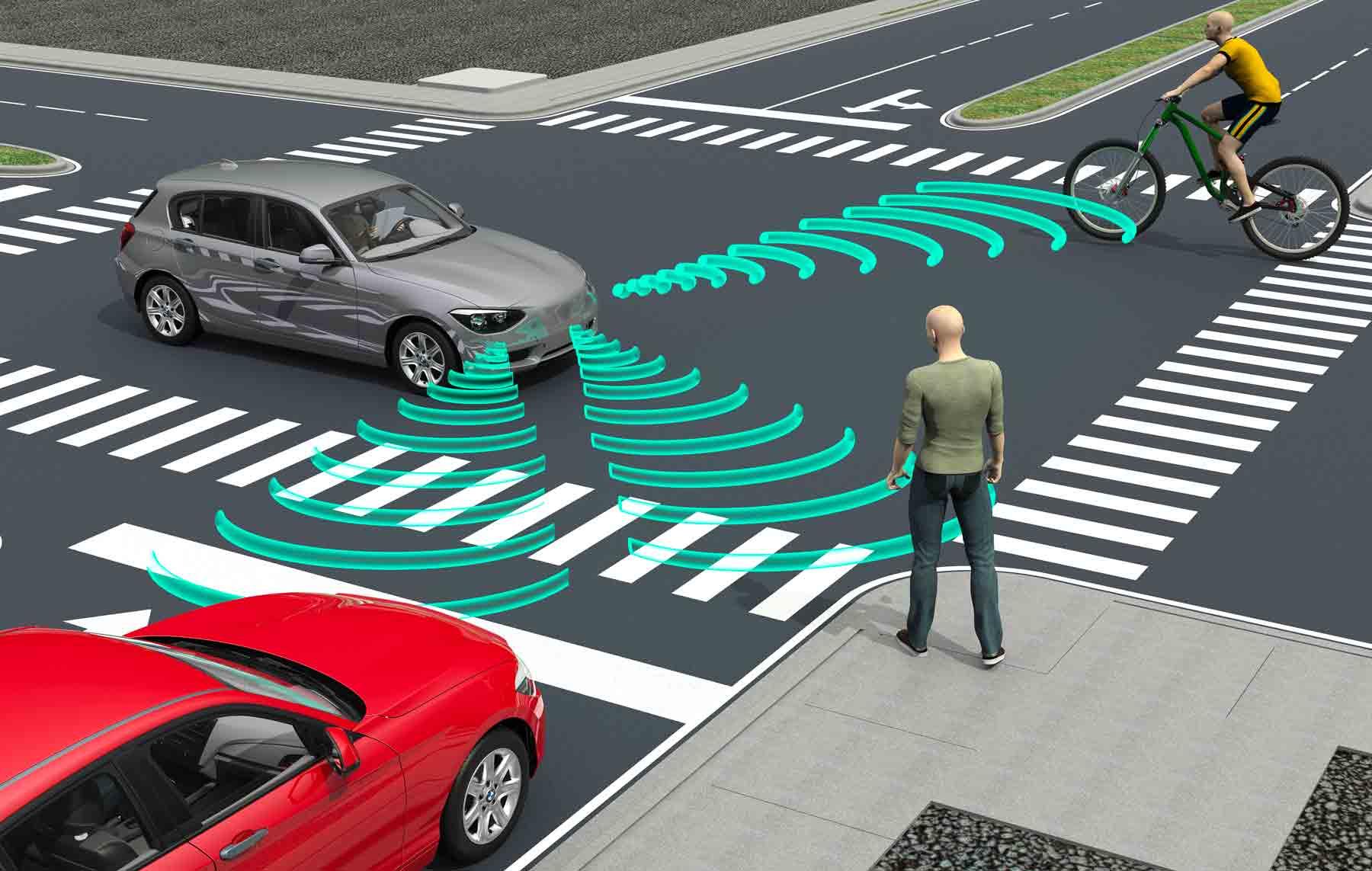 Guida autonoma e radar riconoscimento pedoni