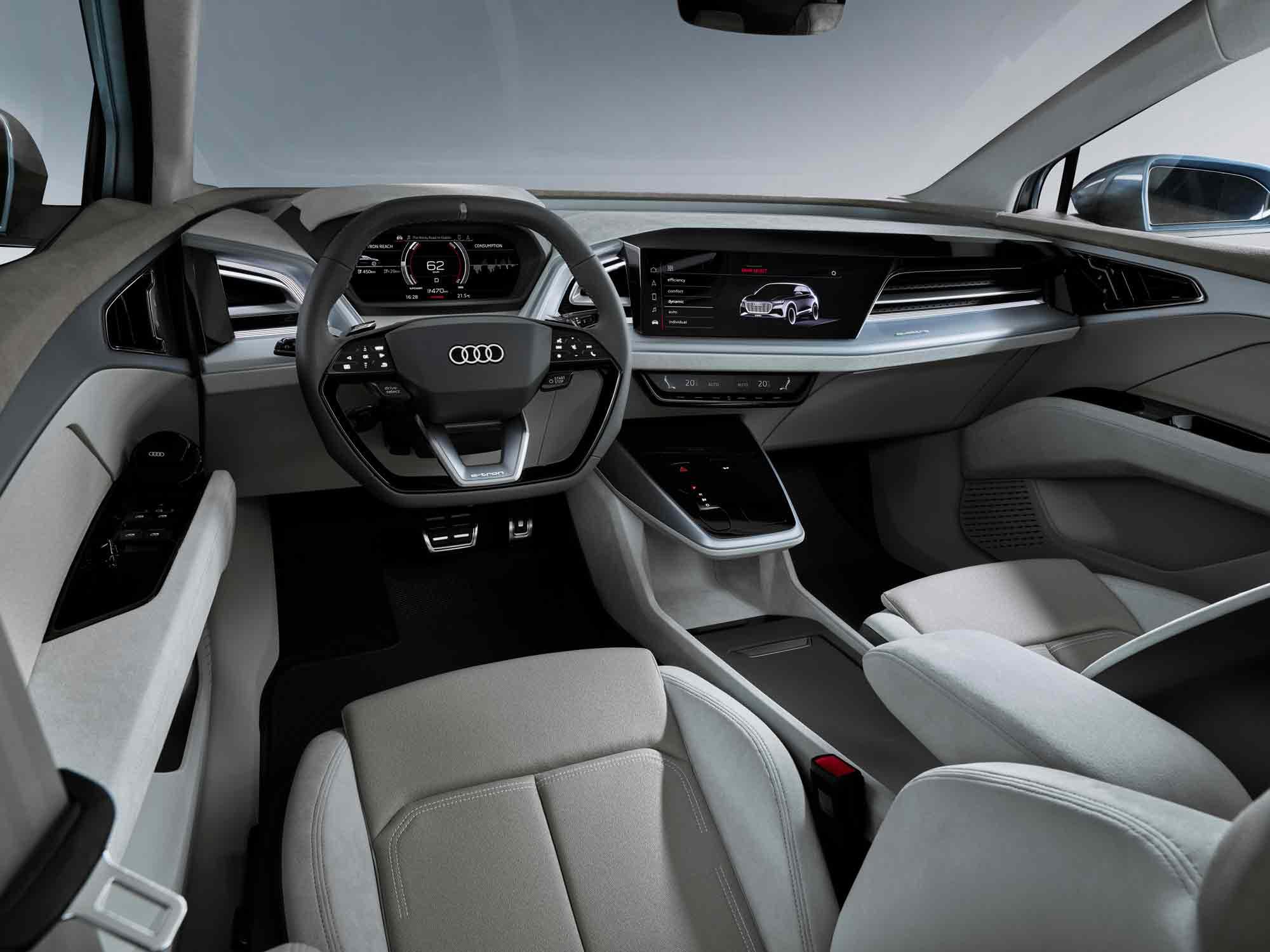 Interni Audi Q4 e-tron