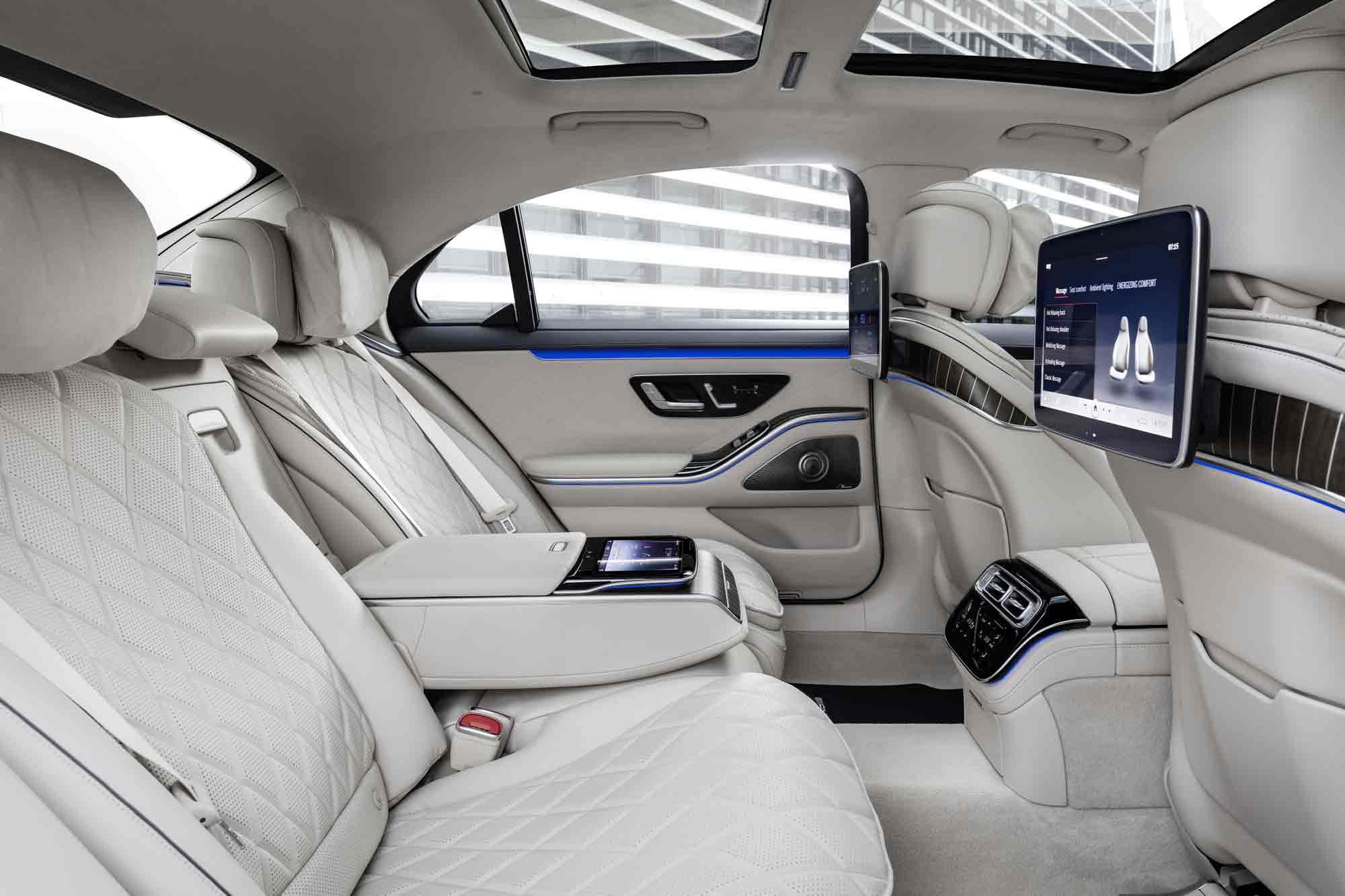 Interni sedili posteriori Mercedes classe S
