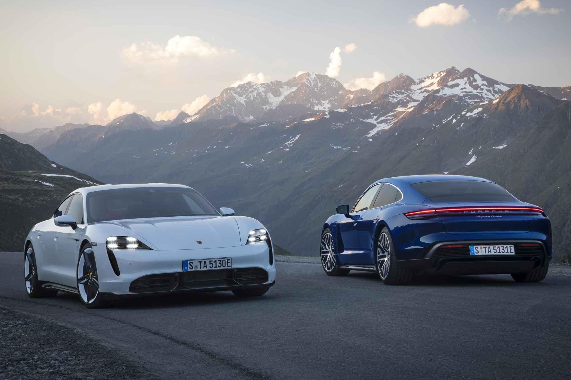 Nuova Porsche Taycan elettrica