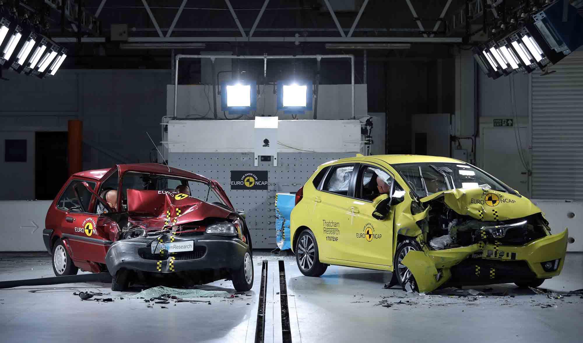 Programma Euro NCAP - Nuovi modelli VS vecchi modelli di Crash Test
