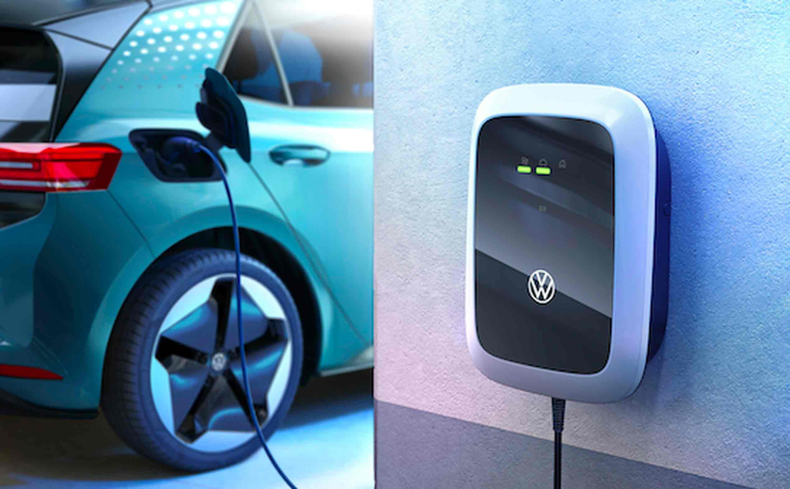 Ricarica colonnina elettrica Volkswagen