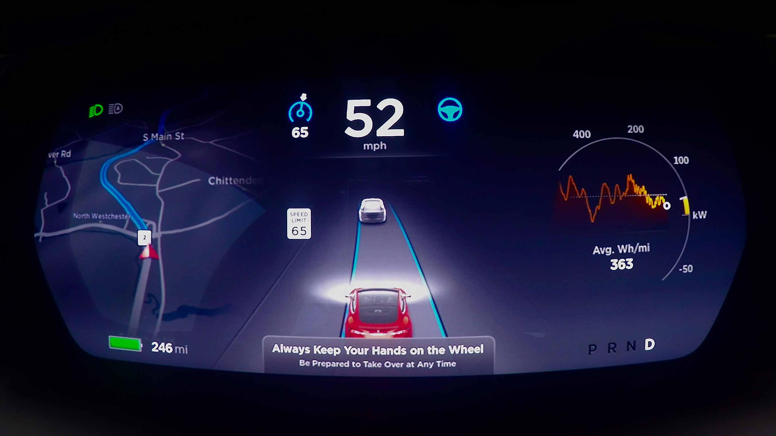 Schermo funzioni per guida autonoma