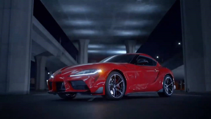 Toyota Supra red version frontale