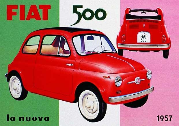 Locandina 60 anni Fiat 500