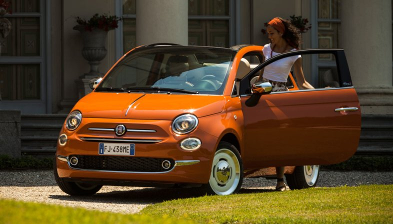 Nuova Fiat 500 frontale