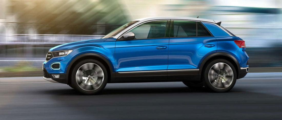 Nuovo VW T-Rock blu