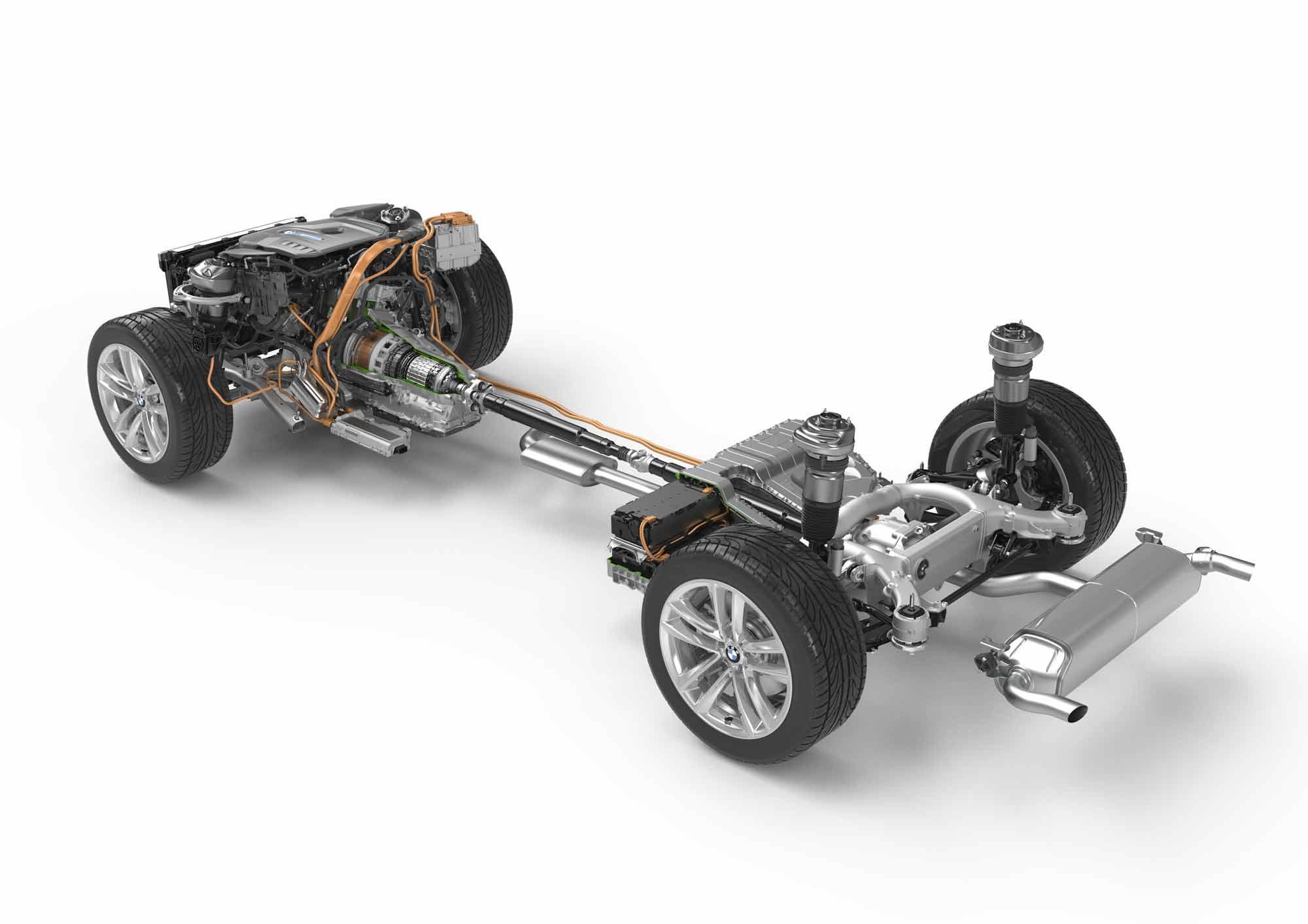 Sistema ibrido plug-in BMW